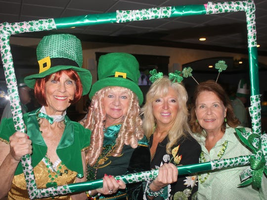 """Susie Walsh, Cindy Crane, Rose Kraemer and Donna Reiley wish each other """"Top of the Morning!"""""""