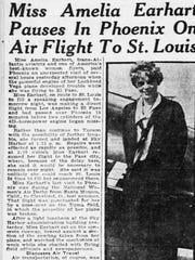Amelia Earhart visited Arizona on multiple occasions.
