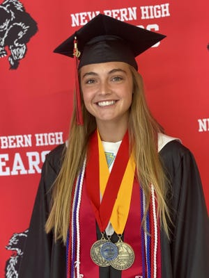 Ellie Hanford, New Bern High School valedictorian.