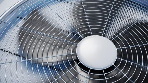 A close-up of an HVAC unit.