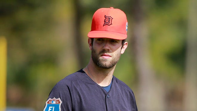 Detroit Tigers starting pitcher Daniel Norris works out Feb. 21, 2016, in Lakeland, Fla.