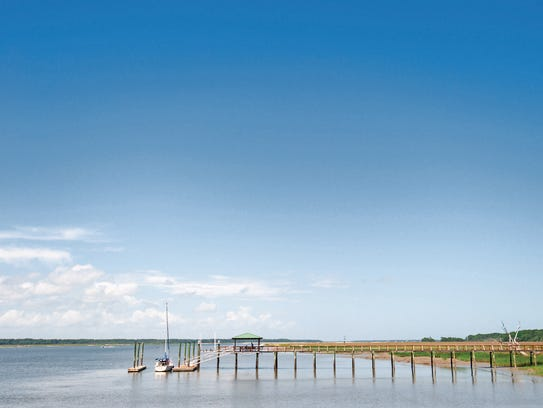 Reachable by boat only, Daufauski Island offers even