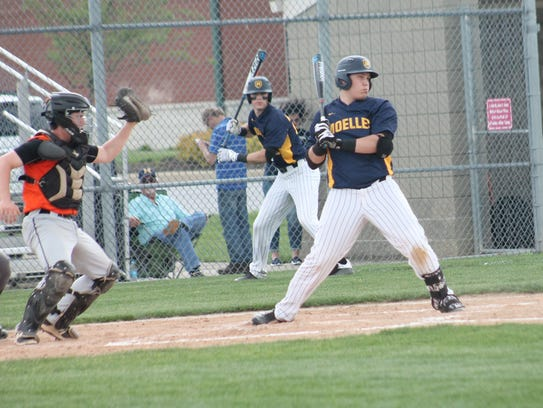 Moeller slugger Mo Schaffer takes one high and tight