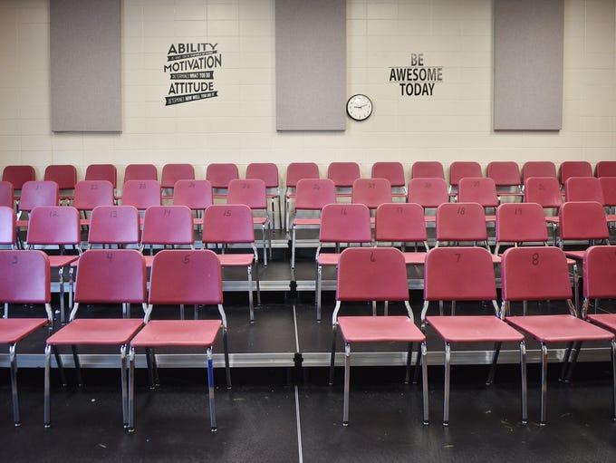 Memorial Middle School music room Thursday, June 14,