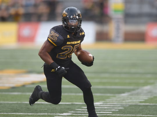 Southern Miss running back Ito Smith will lead the Golden Eagles against Kentucky Saturday.