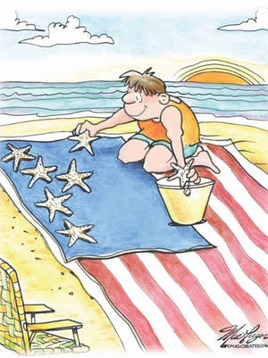 Artwork by cartoonist Doug MacGregor will be on display at the Cape Coral Library