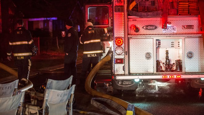 Ten people - four adults, five children and an infant - are homeless after a house fire in Montgomery at 1601 South Holt St. on Monday, Jan. 4, 2016. Montgomery Fire Rescue responded to the blaze. The house is a total loss. No one was injured.