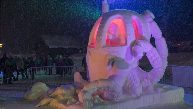 Team USA-Vermont won the top prize in the International Snow Sculpture Championships in Colorado.