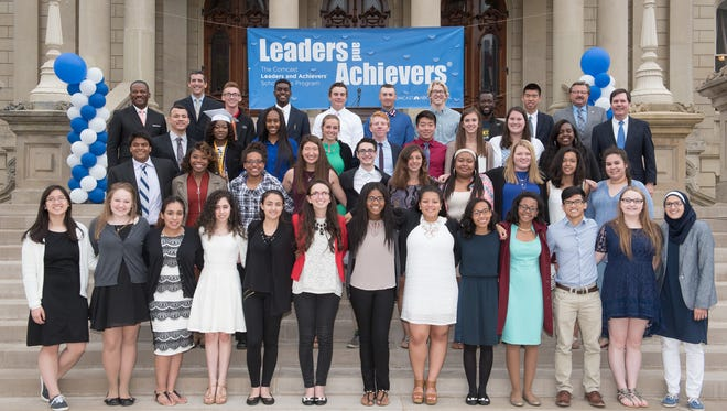 Four Battle Creek-area students were among those honored this week with Comcast NBCUniversal's Leaders and Achievers Scholarships at the Michigan State Capitol building in Lansing.