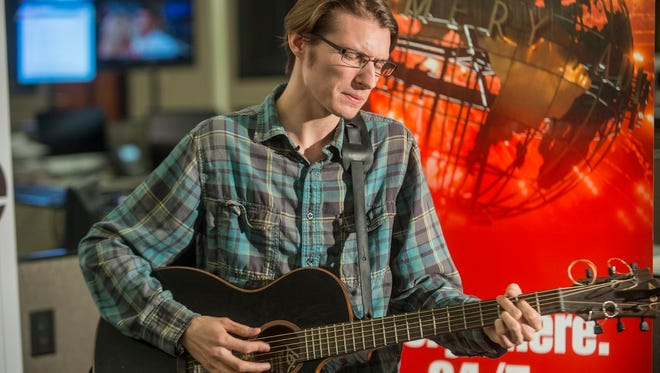 Millbrook native Edward Hartline performs Aug. 15 in the Montgomery Advertiser newsroom for the Advertiser's ongoing original music series.