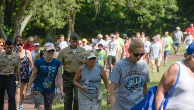 "The 15th anniversary of ""Walk with Joe,"" a memorial 5K walk honoring Patrick ""Joe"" Driscoll, Christopher Gray and Tom McCann was held on Saturday, September 10, 2016 at Monmouth Battlefield State Park in Manalapan. The three were local area residents who lost their lives on 9/11."