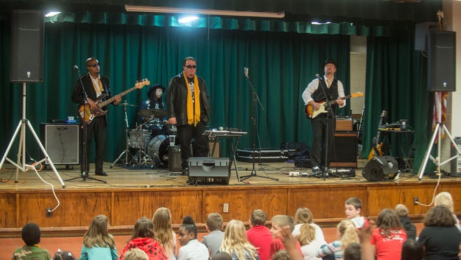 Montgomery blues group King Bee surprised their fans in Karen Cooper's third-grade class at Prattville Elementary with a visit and a concert on Friday, Feb. 17, 2017.