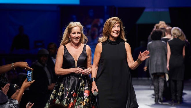 Meghan Mundy, a founder of Fashion Week of Rochester, and Elaine Spaull, executive director of the Center for Youth.
