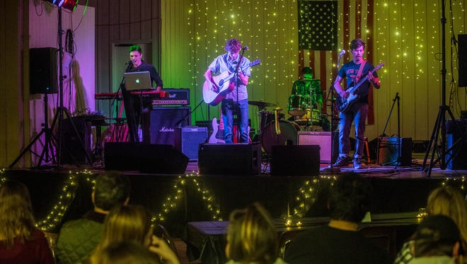 """The group Wake The City opens for Marbury teen singer Abigail Douglas, who held an album release party on Saturday, Jan. 20, 2018, for her album """"Caught up in the Grey"""" at Grandview Family YMCA and Conference Center in Millbrook."""