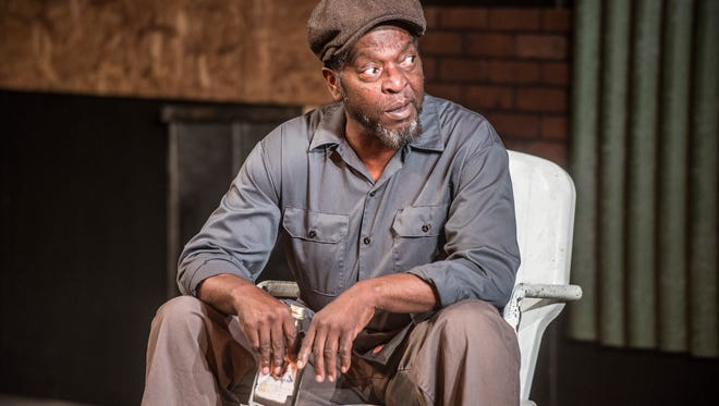 "Ronald McCall as Troy Maxson in rehearsal for ""Fences"" at Cloverdale Playhouse on Tuesday, April 24, 2018."