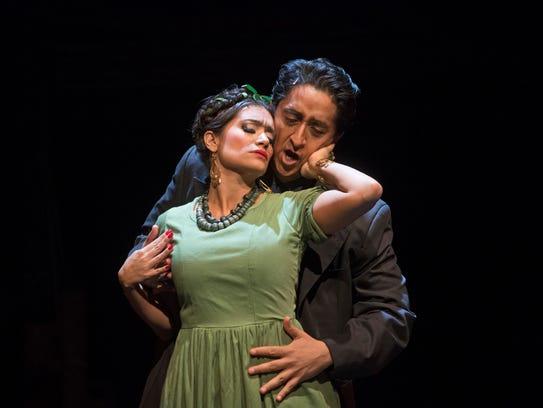 Catalina Cuervo as Frida and Ricardo Herrera as Diego