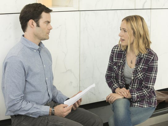 Bill Hader as Barry and Sarah Goldberg as Sally on