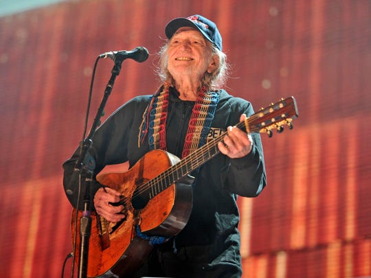Willie Nelson performs at Farm Aid 30 in Chicago in 2015.
