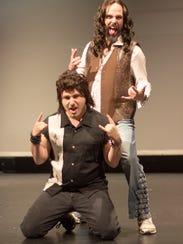 Ben Shutman (kneeling) portrays Lonny and Joe Dugan
