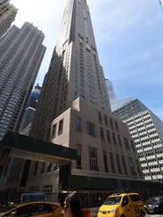 The building at 30 Park Place is on of the large Manhattan
