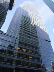 The skyscraper at 115 42nd St. is on of the large skyscrapers