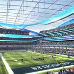 Stan Kroenke waited for this week's owners meetings to unveil the details on his proposed new Inglewood stadium.