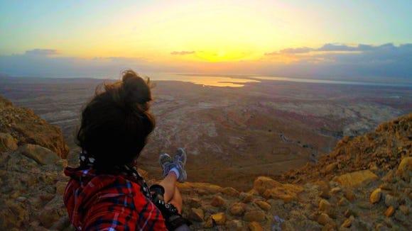 A GoPro selfie: Masada, Israel.