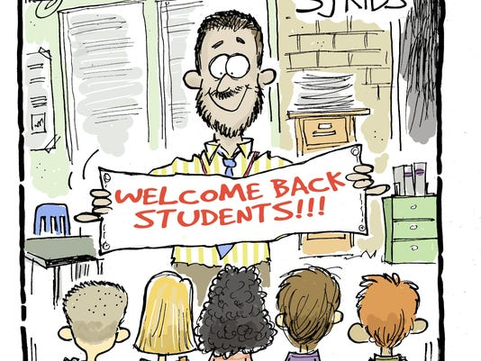 Welcome back sign copy