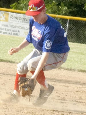 Ottawa Arrows second baseman Carson Hein led offense with five hits in the Sam Ellis Classic over the weekend in Emporia. [PHOTO BY GREG MAST/THE OTTAWA HERALD].