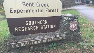 The portable toilets are removed for the winter in the Bent Creek Recreation Area.