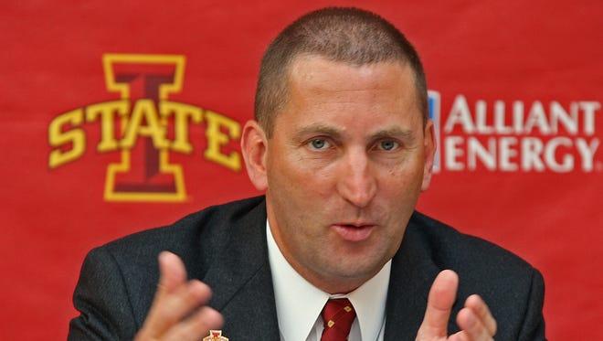 Iowa State director of athletics Jamie Pollard.