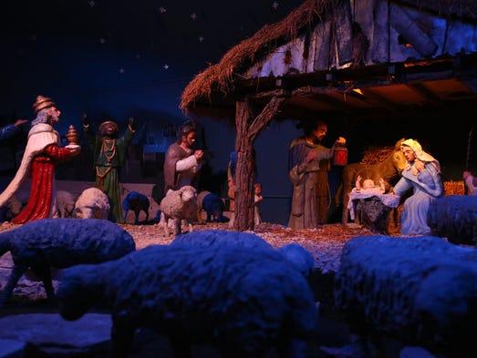 The Algona Nativity Scene on display, Tuesday, Dec.