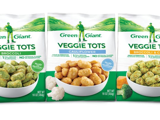 Frozen Sides: Green Giant Veggie Tots - B&G Foods