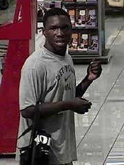 Video surveillance image of a suspect, police say, may be linked to three overnight thefts in Greenville.
