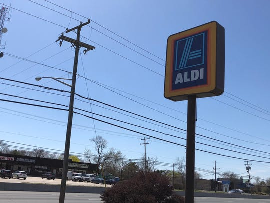 A sign for Aldi in Toms River.