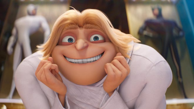 """Dru, voiced by Steve Carell, appears in a scene from """"Despicable Me 3."""""""