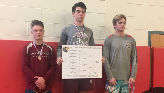 Nutley team captain Frank DeMaio won the 160-pound title at the TCNJ Pride Tournament.
