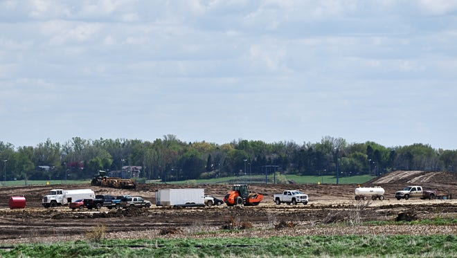 Dirt work started earlier this year at Foundation Park in northwest Sioux Falls.