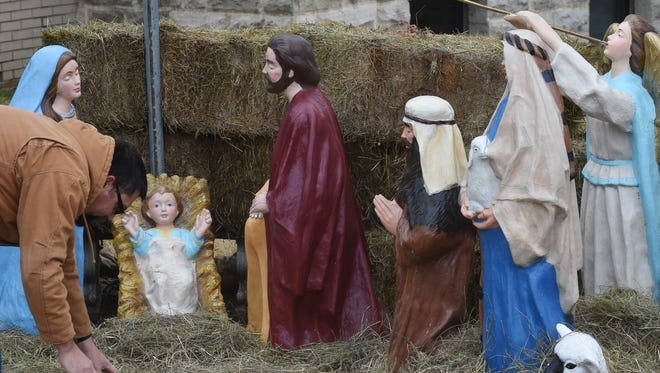 This is the Nativity scene that was on the courthouse grounds last year.