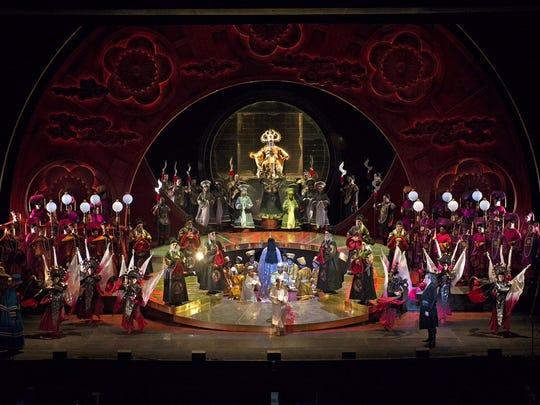 "An overall shot of Cincinnati Opera's ""Turandot."""