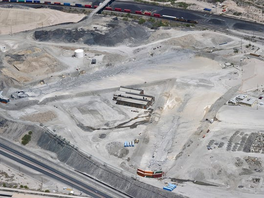 This is how the Asarco smelter site looked in April 2013, after two smokestacks were demolished.