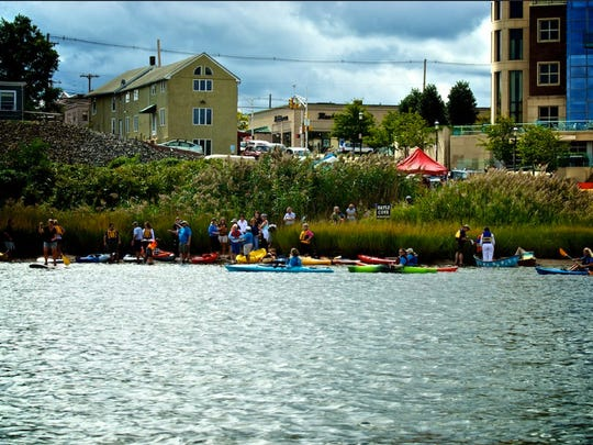 A photo from a previous Paddle the Navesink Day event.