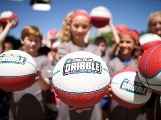 Ages 18 and younger can participate in the free, Final Four Dribble, joining thousands of fans dribbling through downtown Phoenix.