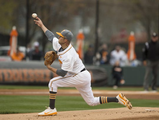 Tennessee pitcher and former Blackman standout Hunter