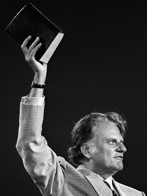 Billy Graham in Memphis at Liberty Bowl Memorial Stadium on May 8, 1978.