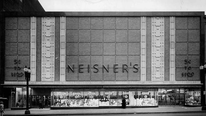 The facade of the then-newly remodeled Neisner's store on East Main Street is seen in this Loulen Studio photo from 1949.