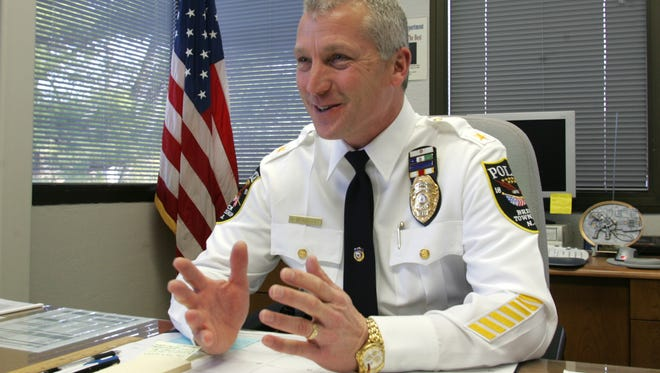 Then-Brick Township Police Chief Nils Bergquist in his office at the municipal complex.
