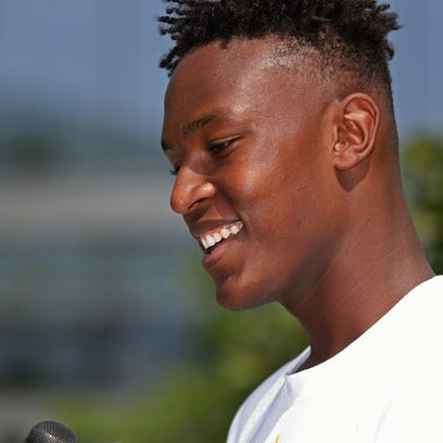 Indiana Pacers' first-round draft pick Myles Turner