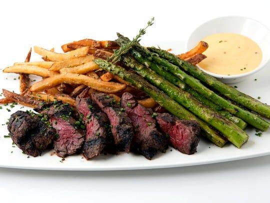 Lamoraga's grilled, marinated 8-ounce hanger steak