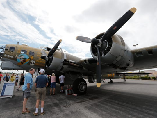 The Wings of Freedom Tour returns to Fort Myers next week with a vintage B-17 Flying Fortress (pictured) and more.